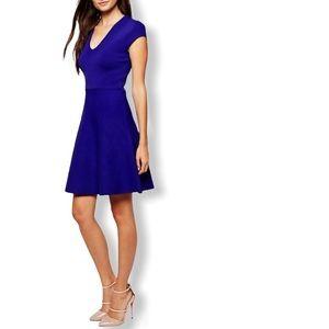 Reiss Knitted Skater Dress Royal Blue